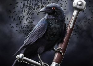 The eyes are the windows to the soul, and the raven drinks the eyes of the dead to carry the soul to the Underworld.