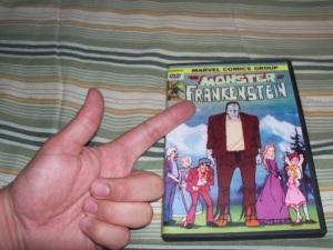 The Ogy finger on the bootleg Toei Marvel Frankenstein DVD
