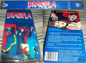 Dracula Vestron Video VHS