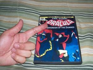 The Ogy finger on the bootleg Dracula Toei Marvel DVD