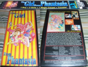 The Girl from Phantasia VHS Rental Box