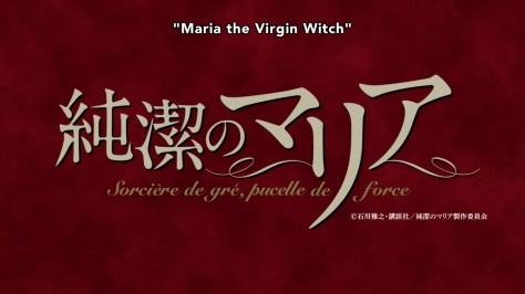 Maria the Virgin Witch Title Card